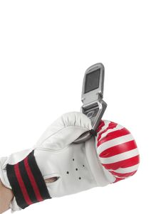 Free Telephone In Glove Royalty Free Stock Photography - 8080337
