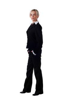 Woman In Pantsuit Stock Photos