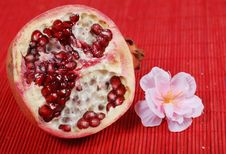 Free Slice Of Pomegranate Stock Images - 8080534