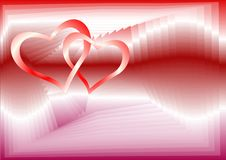 Free Two Red Hearts Royalty Free Stock Image - 8081106