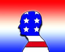 American Head Stock Image