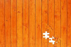 Free Wooden Fence With Missing Puzzle Elements Royalty Free Stock Photos - 8081888