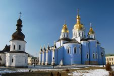 Free Saint Michael S  Cathedral In Kiev Royalty Free Stock Image - 8082176