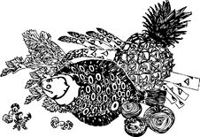 Free Fish_ananas Stock Image - 8082951