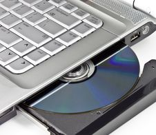 Free Optical Disc Ejected From A Laptop Stock Photography - 8083042