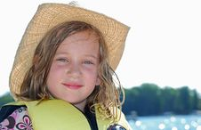 Free Cowgirl On The Water Royalty Free Stock Photo - 8083075