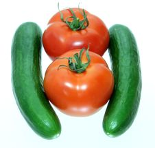 Free Tomatoes And Cucumbers Royalty Free Stock Images - 8083479