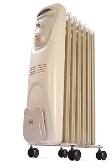 Free Electric Oil Heater On White Royalty Free Stock Photography - 8083627