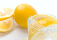 Free Soda Water And Lemon Stock Images - 8083734