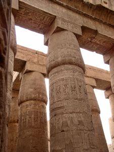 Free The Egyptian Columns Royalty Free Stock Photos - 8083818