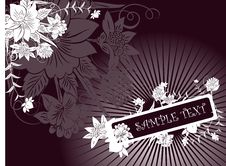 Free Dark Floral Background Royalty Free Stock Image - 8084646