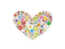 Free Floral Vector Heart Stock Photography - 8084732