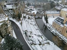 Free Luxembourg In Snow Royalty Free Stock Image - 8084906