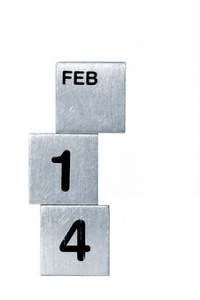 Free  FEB 14  Cubes Royalty Free Stock Image - 8085166