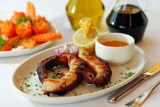 Free Grilled Octopus Stock Photography - 8085402