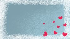 Free Frost Valentine Card With Hot Hearts Royalty Free Stock Images - 8085709