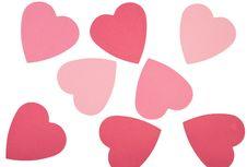 Free Heart Shaped Notes On White Backround Royalty Free Stock Photo - 8086275
