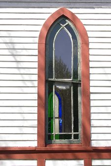 Country Church Window In Indiana Royalty Free Stock Images