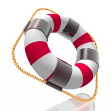 Free Color Striped Lifebuoy Ring Stock Photography - 8087232