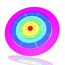 Target From A Rainbow Stock Image