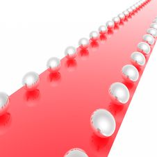 Steel Spheres A Red Carpet Royalty Free Stock Image