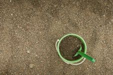 Free Green Sand Bucket Royalty Free Stock Photo - 8087755