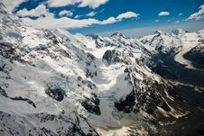 Free Mountains And Glacier New Zealand Royalty Free Stock Photo - 8087935