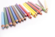 Free Coloured Pencils With Copyspace Royalty Free Stock Photography - 8088847