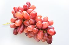 Free Red Grapes On White Background With Clipping Path Stock Photos - 8089073