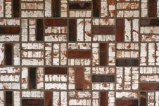 Antique Brick Wall With Crazy Pattern Stock Images