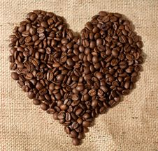 Free Heart Shape Made From Coffee Stock Photo - 8089250