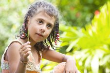 Free Summer Girl Royalty Free Stock Photos - 8089348