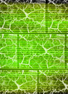 Crackle Green Stock Image