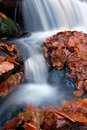 Free Autumn Waterfall In Bohemia Royalty Free Stock Image - 8092636