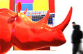 Free Rhinoceros Sculpture Royalty Free Stock Photos - 8097698