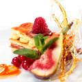 Free Sponge Cake With Raspberry Stock Photo - 8099230