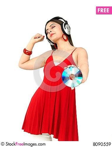 Free Woman Enjoying Music Royalty Free Stock Images - 8090559