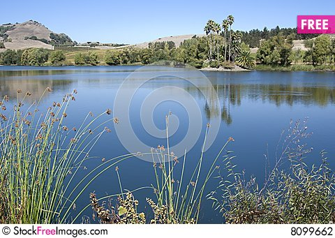 Free Tranquil Blue Lake Stock Photography - 8099662