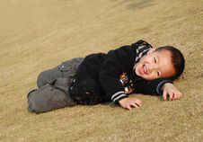 Free Cute Boy Playing Stock Images - 8090224