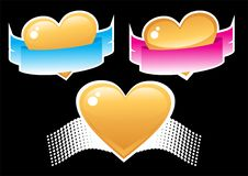 Heart And Ribbon Stock Photography