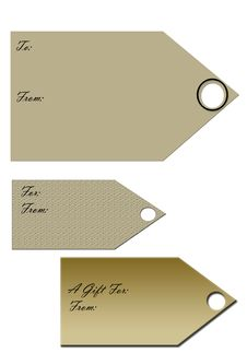 Free Antique Gift Tags Royalty Free Stock Photography - 8090787