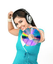 Free Female Grooving To The Music Stock Photo - 8090990