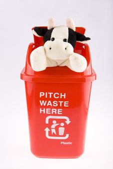 Free Recycling With Doll Cow Stock Photos - 8091063