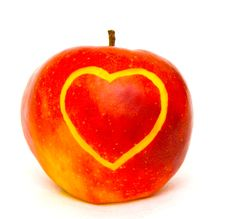 Free Apple With Heart Stock Photo - 8091520
