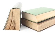 Free Three Old Books Royalty Free Stock Photos - 8091678