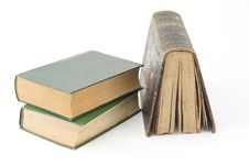 Free Three Old Books Stock Photos - 8091713
