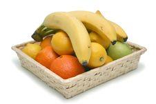 Free Isolated Fruit Basket Royalty Free Stock Photography - 8091757