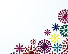 Free Flower Corner Background Stock Images - 8091884