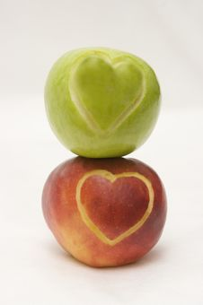 Free Apples With Hearts Stock Photo - 8091910