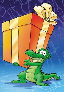 Free Green Crocodile Stock Photo - 8092090
